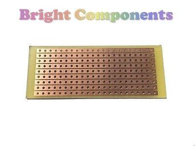 10 x Stripboard (Vero Strip Prototyping Board) 25mm x 64mm - UK - 1st CLASS POST