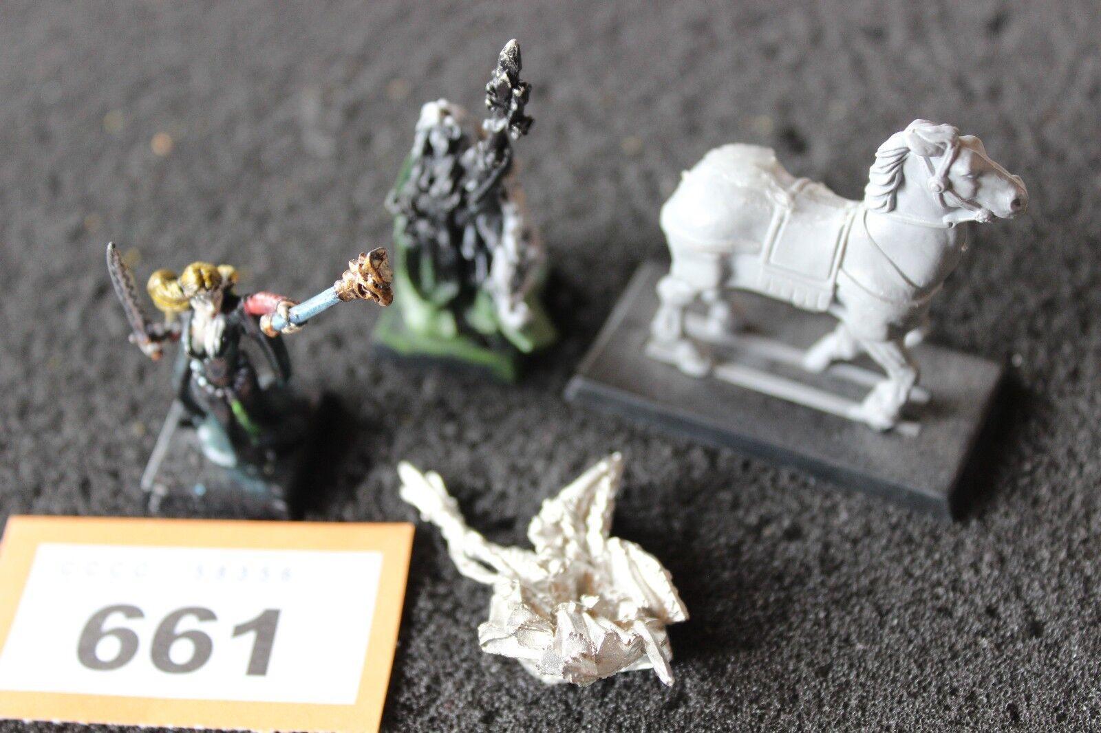 Games Workshop Warhammer Bretonnian Damsel Foot Mounted Metal Figures Army OOP