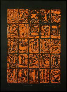 DDR-Kunst-Sommernacht-1989-Serigraphie-Eckhard-KONIG-1958-D-handsigniert