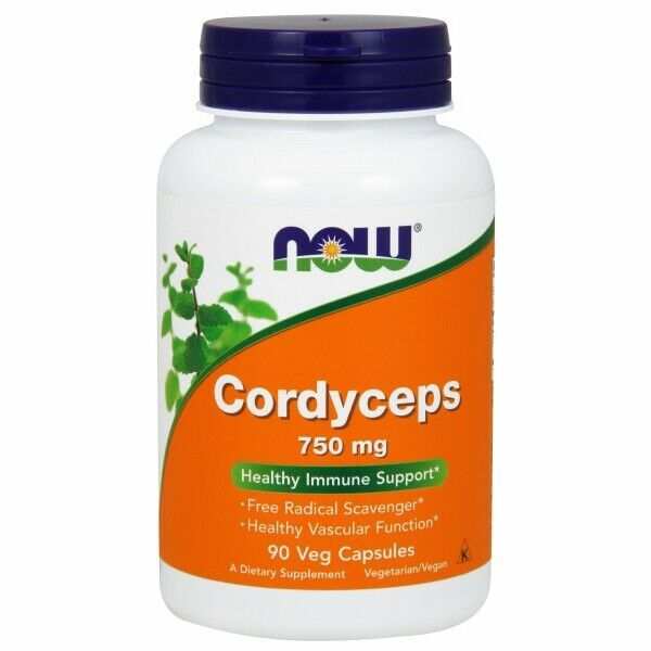 Cordyceps 90 Vcaps 750 mg by Now Foods