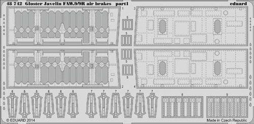 EDUARD 1 48 Gloster Javelin faw.9 faw.9r ARIA FRENI