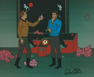 Star-Trek-Tribbles-Sericel-1995-cel-Filmation-1973-James-T-Kirk-Bones-McCoy