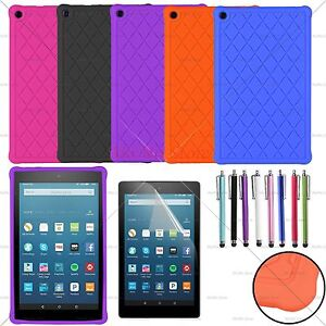 For 2016/2017/2018 Amazon Fire HD 8 Soft Silicone/Gel/Rubber