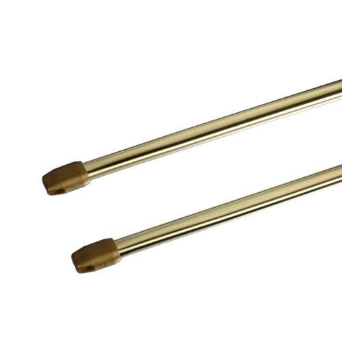 MyDeco Vitrage Scheibenstange 11 mm Messing 2 Stück ausziehbar versch Längen