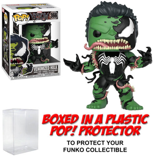 Marvel ~ VENOMIZED HULK VINYL FIGURE w//Protector Case #366 Funko POP