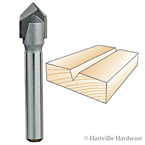 Whiteside Router Bits 1540 V-Groove 60-Degree 1//4-Inch Cutting Diameter and