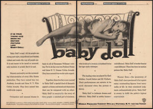 BABY DOLL__Original 1956 Trade AD / World Premiere promo / poster__CARROLL BAKER