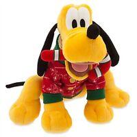Christmas Pluto Holiday Plush Genuine Original Authentic Disney Store Patch
