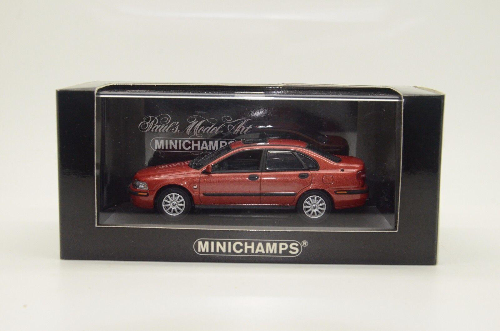 Raro  Volvo S40 S40 S40 2000 Rojo Metálico Minichamps 171100 1 43 5f6d7c