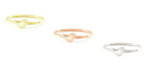 Plata-Oro-Chapado-En-Oro-Rosa-Diminuto-Pequeno-Pajaro-Simple-Animal-Bonito