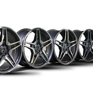 4x-AMG-19-Zoll-Mercedes-Benz-CLS-63-W218-E63-W212-S212-Alufelgen-Felgen-NEU