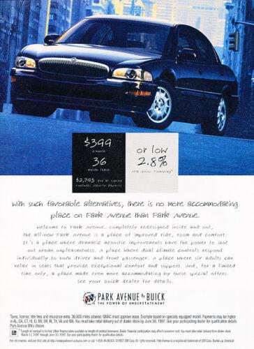 Classic Vintage Advertisement Ad PE92 1997 Buick Park Avenue