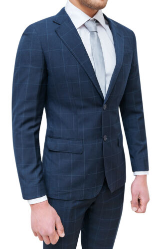 Man Diamond Check 58 Da Suit Dark 42 Blue A Sartoriale Complete Élégant 5qxEww1fB
