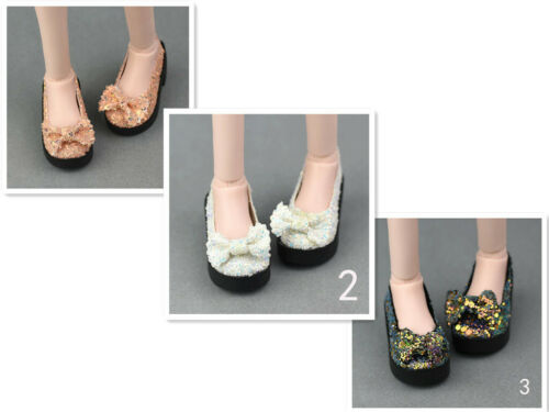 6cm Bling-Bling Bowknot Fashion Doll Shoes For 1//4 BJD Doll High Heel Shoes Toy