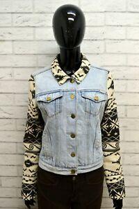 Giacca-in-Jeans-Donna-MAISON-SCOTCH-Taglia-Size-S-Jacket-Woman-Giubbotto-Blu