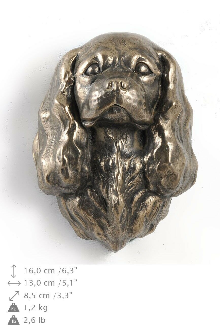 King Charles Spaniel  dog figurine to hang on the wall, high quality, Art Dog