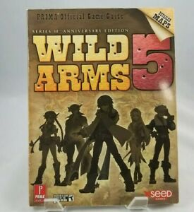 Wild arms 5 v strategy guide playstation 2 ps2 prima official game.