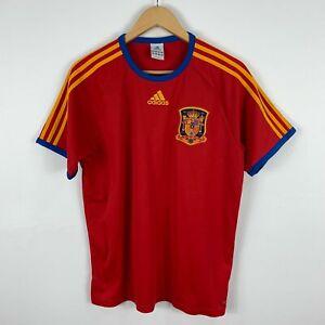 Adidas-Spain-Football-Jersey-Shirt-2010-Mens-Medium-Short-Sleeve-Retro-Soccer