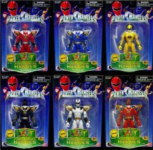 Power Rangers Dino Thunder 6 Ranger Héros Blanc Rouge Jaune Bleu Noir Trias Nw 45557291167