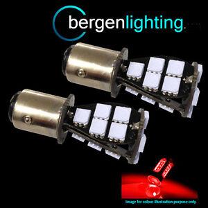 380-P21-5w-BAY15D-1157-Xenon-Rojo-21-SMD-LED-freno-trasero-Bombillas-st201602