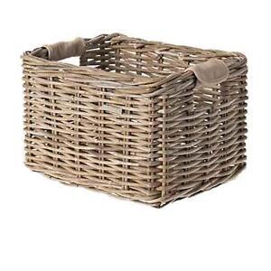 Basil transporte cesta mimbre de Dorset gris cesta de bicicleta cesto para bicicleta cesto rueda delantera L  </span>