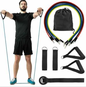 11Pcs-Set-Resistance-Band-Workout-Yoga-Exercise-Crossfit-Fitness-Training-Tube