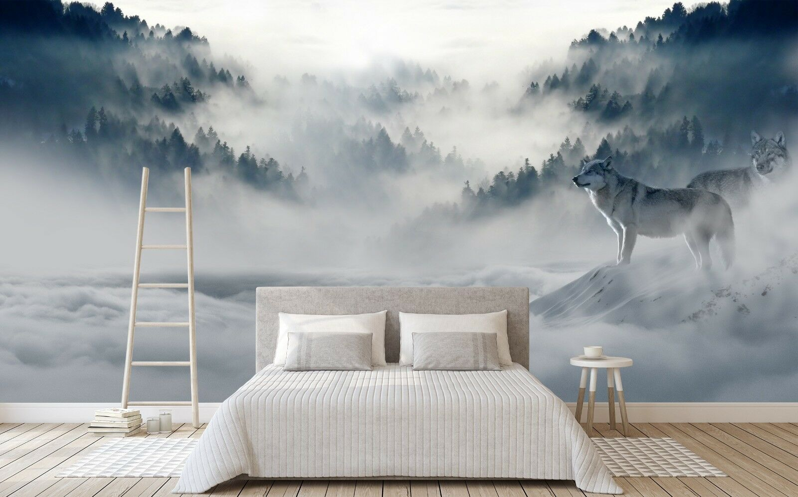 3D Fog Wolf 7151 Wall Paper Print Wall Decal Deco Indoor Wall Murals US Summer