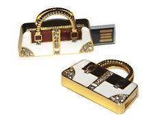 Handtasche Tasche Gold mit Steinen -  USB Stick 64 GB Speicher / USB Flash Drive