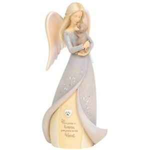 "Enesco Foundations Paw Prints in Heaven Pet Dog Bereavement Angel Figurine, 7"""