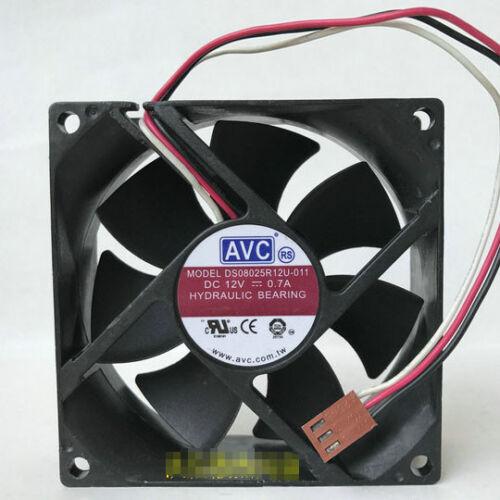 1pc AVC DS08025R12U-011 DC12V 0.70A gran volumen de aire ventilador de la CPU 3pin
