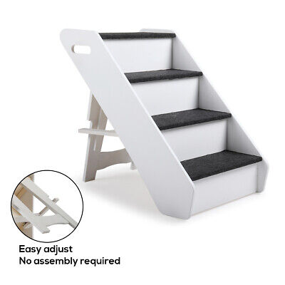 Terrific Portable Dog Steps 4 Steps For High Bed Pet Stairs Small Dogs Cats Ramp Ladder 6971888425459 Ebay Bralicious Painted Fabric Chair Ideas Braliciousco