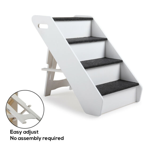 Terrific Portable Dog Steps 4 Steps For High Bed Pet Stairs Small Dogs Cats Ramp Ladder Dailytribune Chair Design For Home Dailytribuneorg