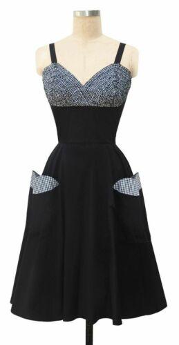 Trashy Diva 2 Apple Pie Dress Black Cotton Poplin