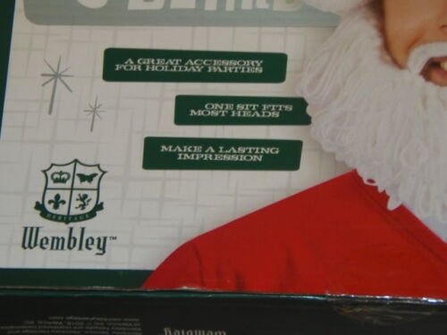 GRN-210-29x2 New Wembley Christmas Holly Jolly Santa Hat and Beard