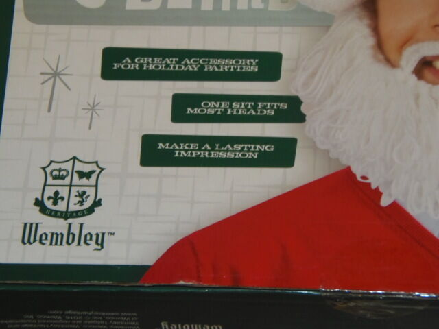 d216f5bfaa2 Santa Hat   Beard Knitted Holly Jolly Wembley Christmas Holiday