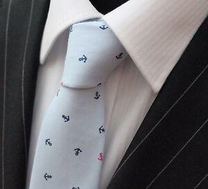 Efficace Cravate Cou Tie Slim Bleu Clair Avec Petits Premium Qualité Coton T6156-afficher Le Titre D'origine Doux Et LéGer
