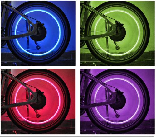 2X LED TIRE VALVE STEM CAPS NEON LIGHT AUTO ACCESSORIES BIKE BICYCLE CAR AUTO