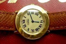 Must de Cartier Vermeil  Date Yellow Gold Plated Argent