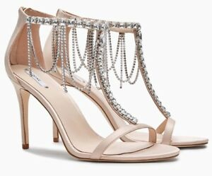 Blush 41 Women's Embellished 7 Satin £75 Pink Rrp Next Eu Sandals Size Uk 6fRxa5q5w