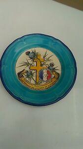 Assiette-n-2-Emaux-de-Longwy-union-nationale-des-evades-de-guerre-et-passeurs