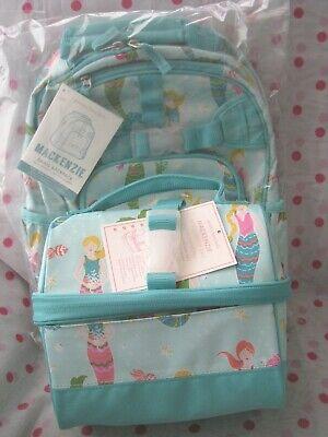 New Pottery Barn Kids Small Aqua Mermaid Backpack Retro