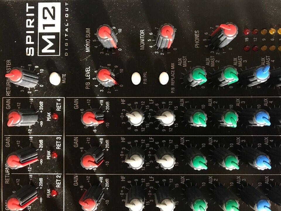 Mixer, Soundcraft M12 Spirit