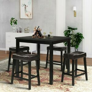 Dining-Table-Square-Kitchen-Breakfast-Counter-Height-Furniture-Home-Furniture-US