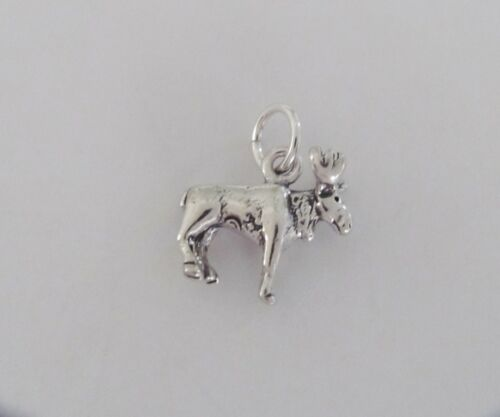 Sterling Silver 3d moose charm