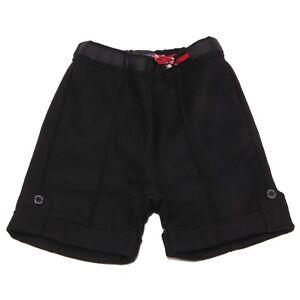3723V-shorts-bimba-BURBERRY-lana-nero-wool-black-short-girl-kid