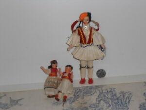 Vintage Children/'s Greek Folk Dress with Doll Size 5