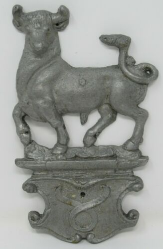 ZODIAC SIGNS Vintage Pewter Wall Hanger Plaque Astrology Horoscope Metal Emblem