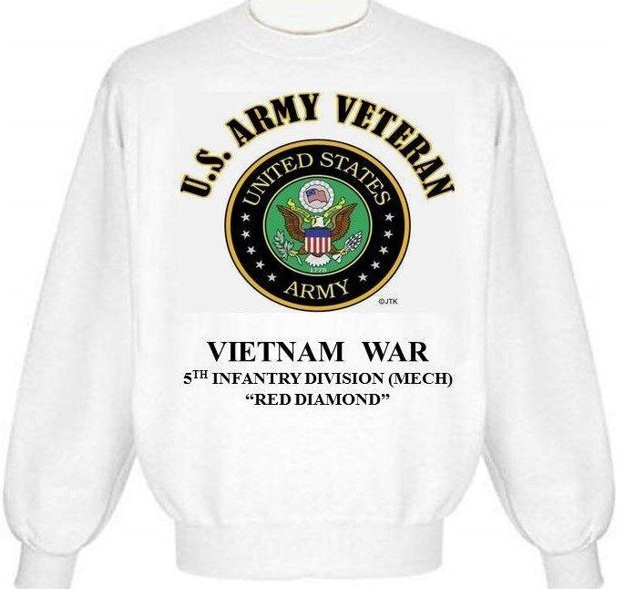 VIETNAM WAR 5TH INFANTRY DIVISION (MECH) RED DIAMOND ARMY EMBLEM SWEATSHIRT