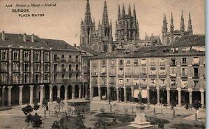 CASTILLA-L-BURGOS-PZA-MAYOR-HAUSER-Y-MENET-N-1406-POSTAL-ANTIGUA