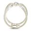 10-Quilates-Oro-Blanco-Diamante-Jaula-Anillo-20-Quilates-Zig-Zag-Banda-Abierto miniatura 3